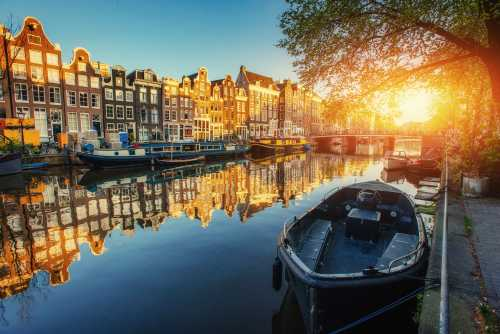 Amsterdam evening ambience