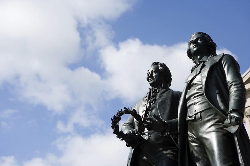 Goethe & Schiller Denkmal Weimar
