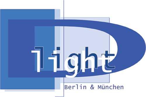 D light – T.E.S.B.: D light Schülerdisko Berlin Logo