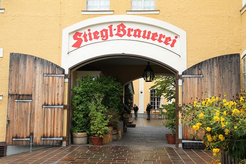 Gruppenausflug und Gruppenticket in Salzburg: Stiegl Brauerei: Stiegl Brauerei in Salzburg Eingang