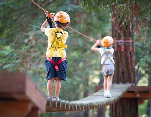 High Ropes Course Pottenstein close to Nuremberg - school group offers