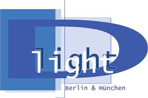 D light – T.E.S.B.: D light Schülerdisko München Logo