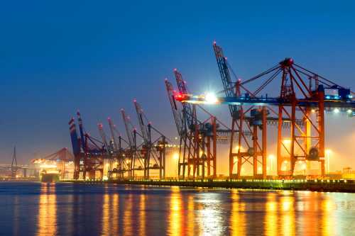 Shutterstock: Hamburg container port