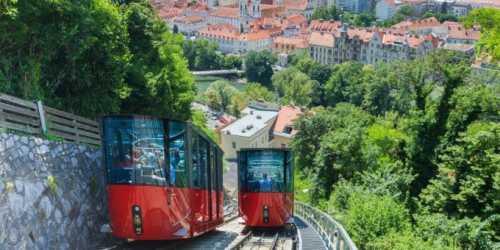 Gruppenausflug und Gruppenticket in Graz: Graz Tourismus, Harry Schiffer: Schlossbergbahn