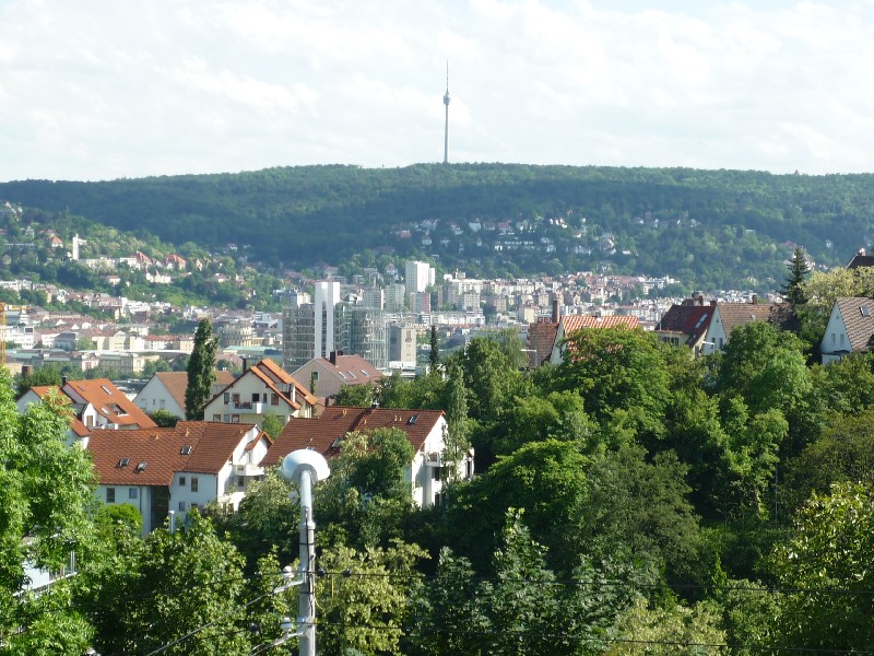 Stuttgart Stäffeltour Blick auf Fernsehturm