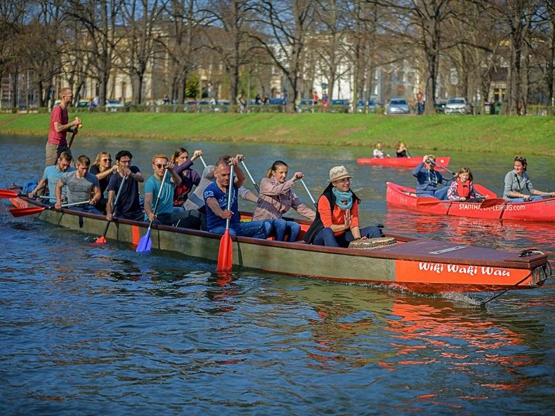 Stadthafen Leipzig - Drachenboottour