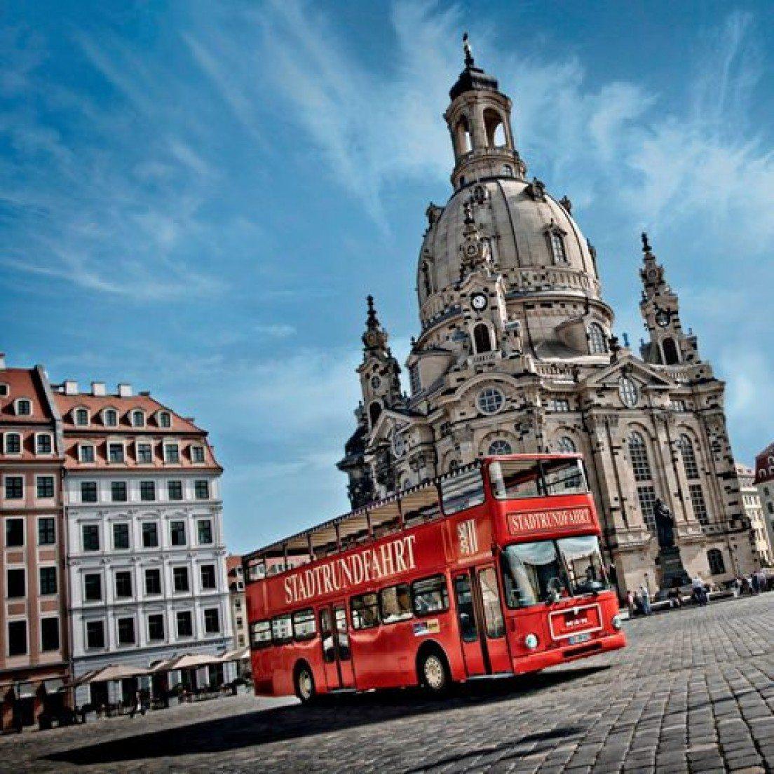 Die Roten Doppeldecker - Dresdener Stadtrundfahrt